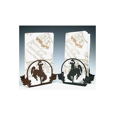 Cutout Bucking Horse Napkin Holder - By Tom Balding Bits & Spurs