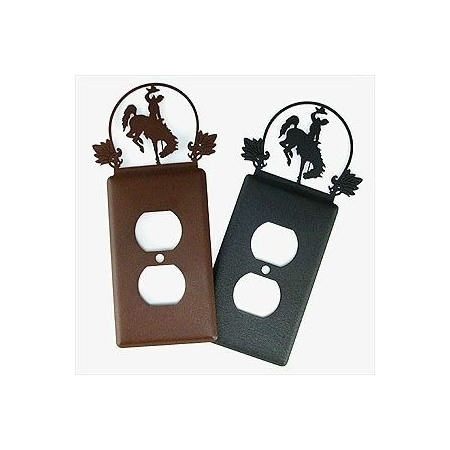 Cutout Bucking Horse Outlet Cover -By Tom Balding Bits & Spurs