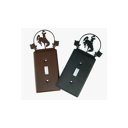Cutout Bucking Horse Single Light Switch Cover - By Tom Balding Bits & Spurs